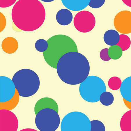 psychedelic background: Seamless background with colored circules.