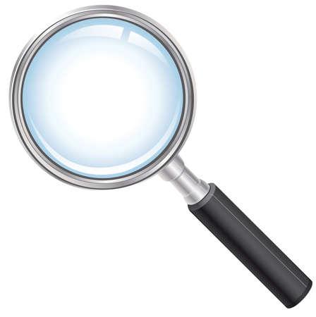 forensics: magnifying glass Illustration