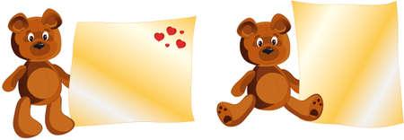 Teddy Bear whith notes