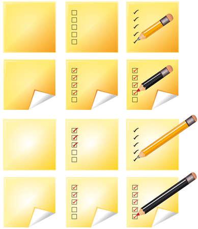 notes whith pencil Vector