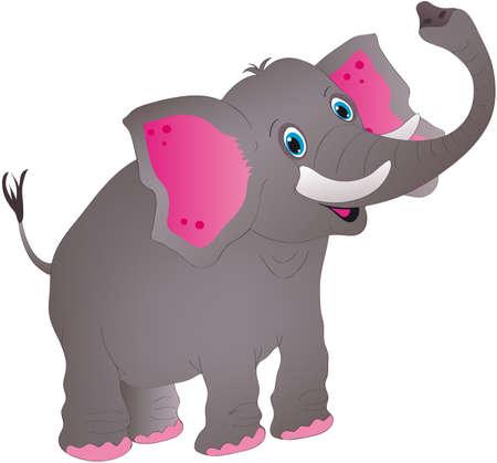 illustration zoo: elefante Vettoriali