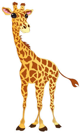 illustration shows a happy giraffe Illustration