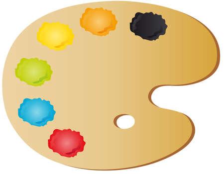 tavolozza pittore: tavolozza del pittore Vettoriali