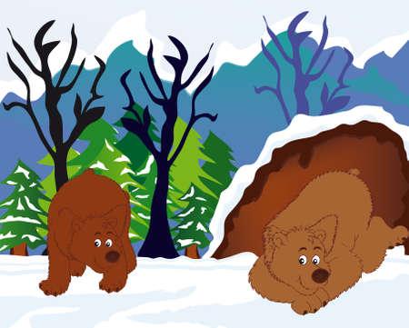 grisly: sleeping bears Illustration