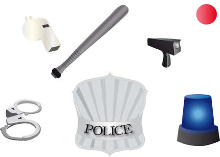 police Accessories Vector