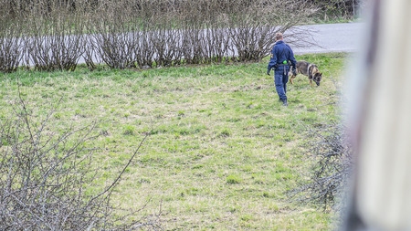 Swedish police dog - crime scene investigation photo