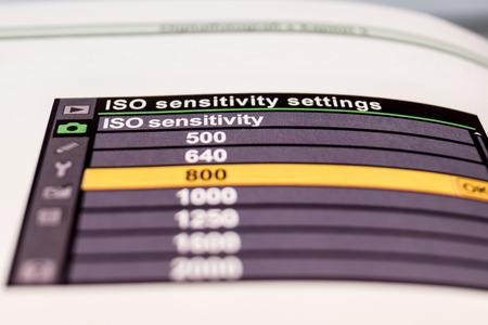 sensitivity: ISO sensitivity