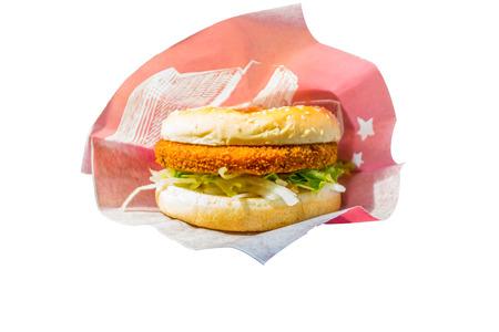 vegetarian hamburger: Vegetarian hamburger isolated Stock Photo