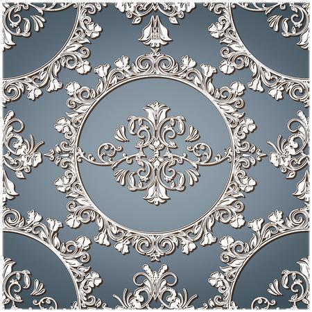 revivalism: Vintage Floral TexturePattern Illustration