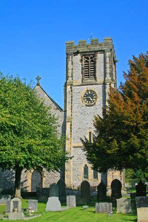 derbyshire: Bradwell Church, Derbyshire. Stock Photo