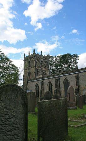 derbyshire: Castleton Church, Derbyshire. Editorial