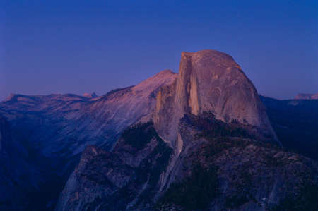 half dome: Half Dome at about 1 hour after sunset