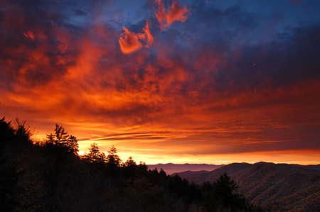 newfound gap: Sunrise at Newfound Gap