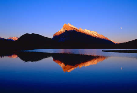 Sunset at Vermilion Lakes of Banff, Canada Stock Photo - 6160124
