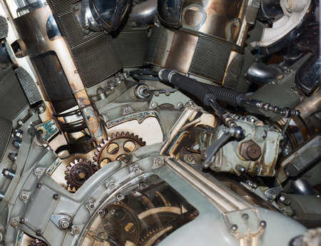 Old aircraft engine   photo