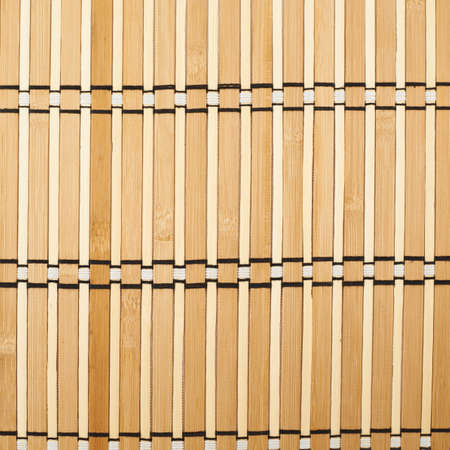 Bamboo brown straw mat as abstract texture background composition, top view above photo