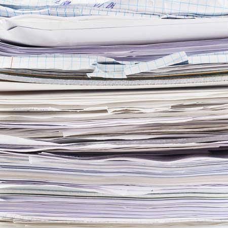 Stapel von Papierbögen und Dokumente Fragment als Business-Hintergrund Lizenzfreie Bilder