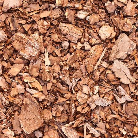 paillis: Fragment de sol de paillis de bois que la composition de fond abstrait Banque d'images