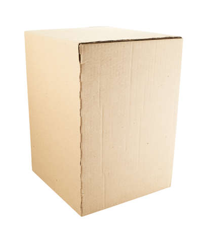 cardboard box: Cardboard box package isolated over white background