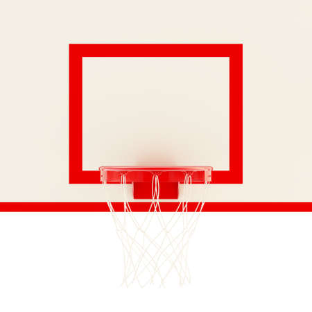 Basketball hoop fragment, 3d render illustration illustration
