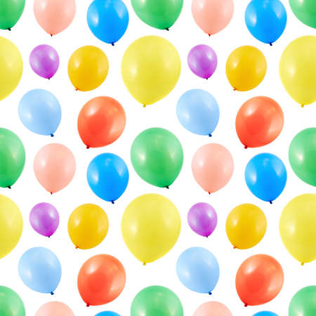 Colorful balloon composition as a seamless party themed background photo