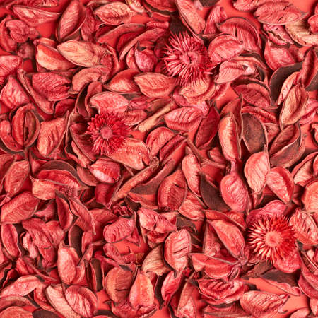 medley: Surface covered with red medley potpourri