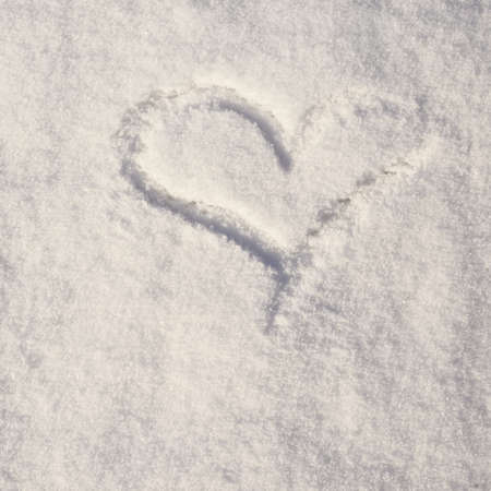 compostion: Heart shape made in snow compostion