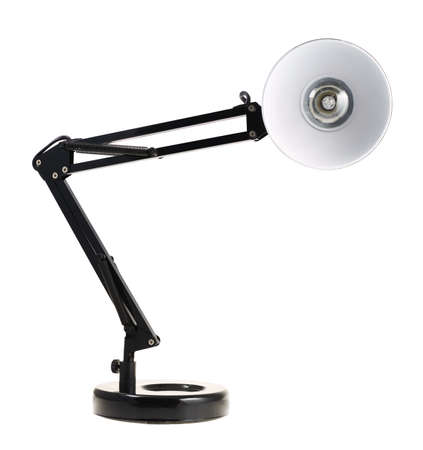 Black reading table lamp isolated over the white background photo