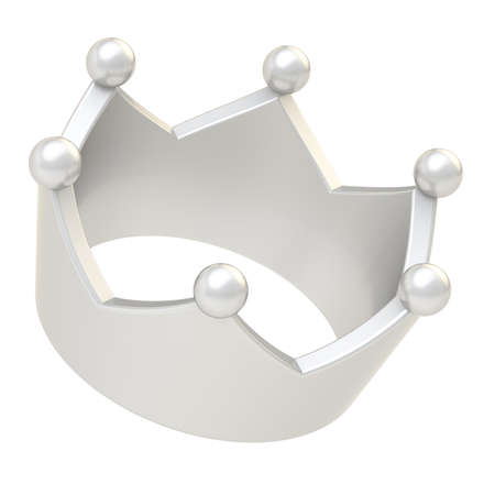luxuriance: Silver crown isolated over the white background