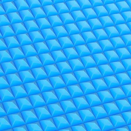 coating: Soundproof coating fragment made of blue pyramid shaped segments Stock Photo