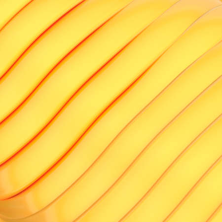 Abstract background made of bright orange glossy strips photo