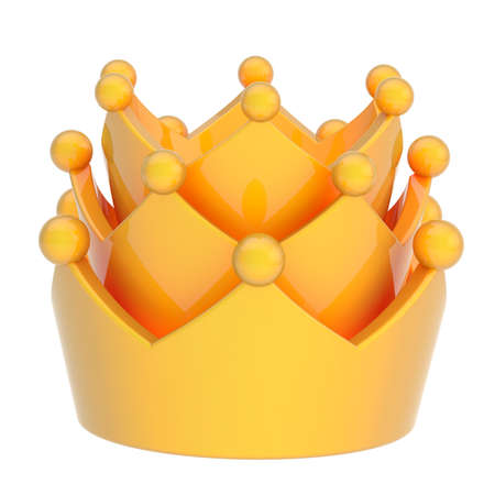 Yellow crown isolated over white background Stock Photo