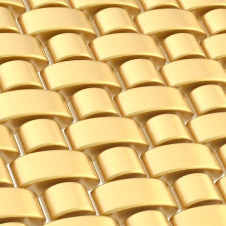 Abstract composition made of multiple glossy golden links photo