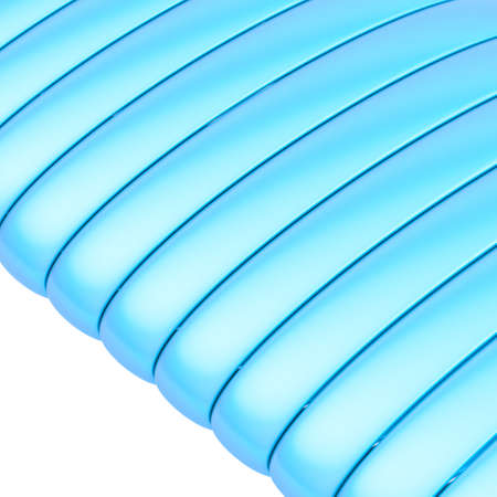 banding: Abstract background composition of glossy metal blue band strips over the white background