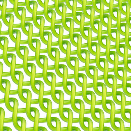 Multiple twisted green tubes over the white background forming an abstract background composition photo