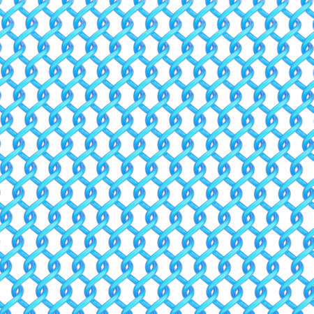 chainlink: Multiple twisted blue tubes over the white background forming an abstract background composition