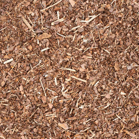 Wooden mulch ground