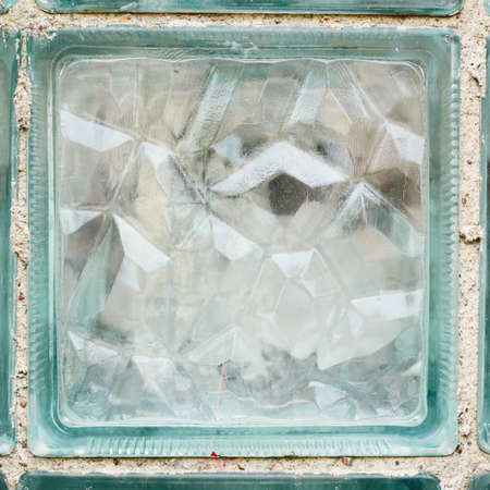 glass brick: Glass frammento mattoni come uno sfondo astratto trama