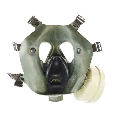 Army gas mask isolated over the white background photo