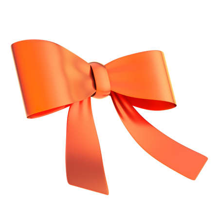 scarlet: Decorational scarlet red glossy ribbon bow isolated over white background