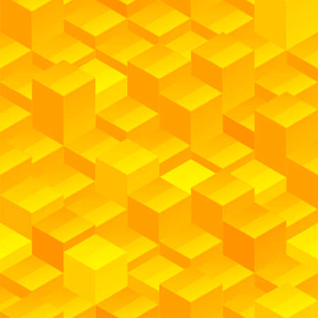 Abstract seamless background vector pattern texture made of yellow glossy blocks Vector