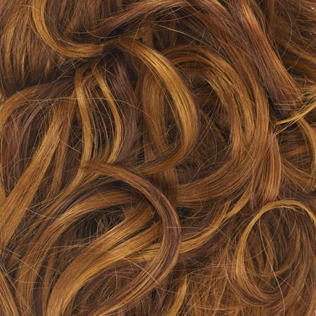 Curly hair fragment as a texture background composition Stock Photo