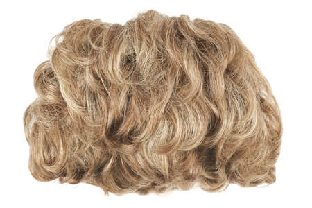 Curly hair wig isolated over the white background photo