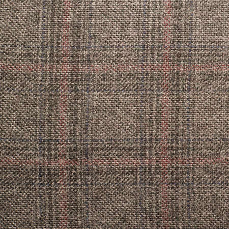 scottish straight: Tweed striped jacket cloth material fragment as a background texture composition Stock Photo