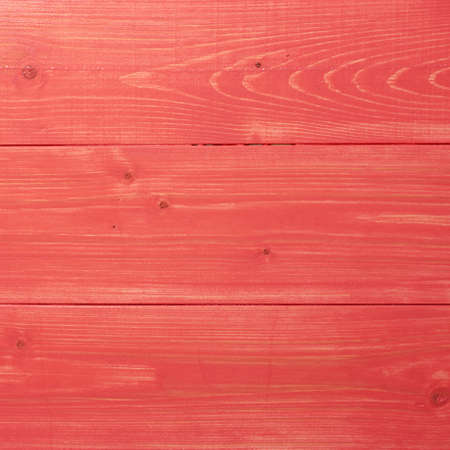 recently: Recently painted in red wooden pine boards as a background texture composition