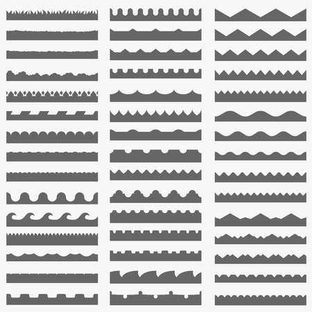 Vector set of 45 seamless border patterns Illustration