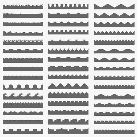Vector set van 45 naadloze grens patronen Stock Illustratie