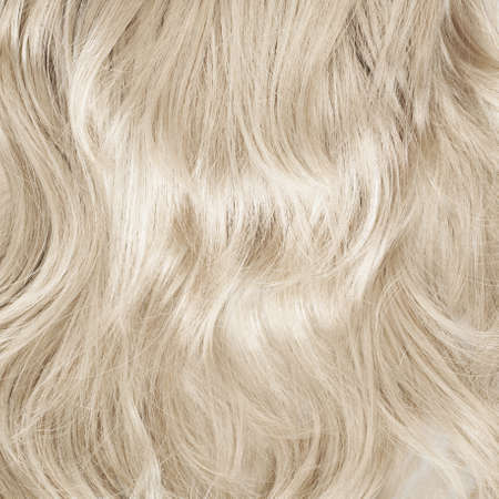 artificial hair: Wavy hair fragment as a texture background composition Stock Photo