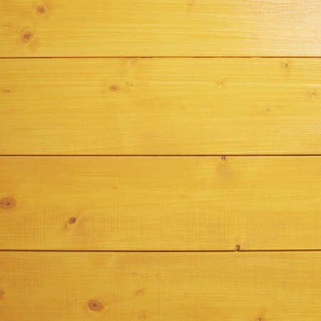 recently: Recently painted in yellow wooden pine boards as a background texture composition Stock Photo