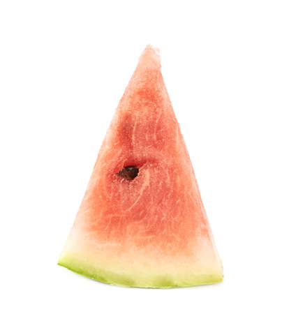 triangle shaped: Triangle shaped watermelon slice piece, isolated over the white background